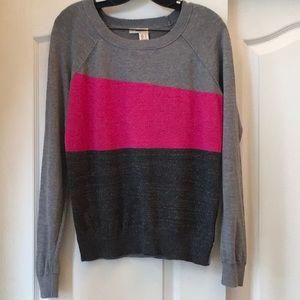 DKNY Fine Knit Sparkly Sweater. L